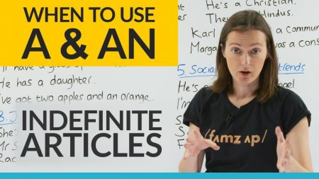 """When to use """"A"""" or """"AN"""" in a sentence… and when NOT to! (Indefinite Articles)"""
