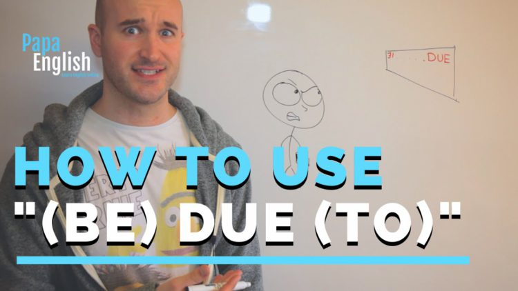 "How to use ""(Be) due (to)"" – English Grammar"